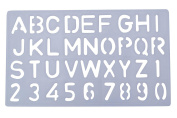 Aacee's Plastic Clear Alphabet Number Stencil Template Student Symbol Drawing