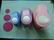 Since 3pcs(5.0cm,3.8cm,2.5cm) circle shape craft punch set Punch Craft Scrapbooking school Paper Puncher eva hole punch,Random Colour