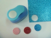 Since 1 inch(2.5cm)circle EVA foam punch round paper punch for greeting card handmade and Scrapbook Handmade craft punch,Random Colour and Design