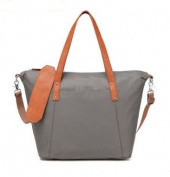 CL Nappy Bag Travel Backpack Multi-function Bag with Baby Changing Pad - Grey with orange strap