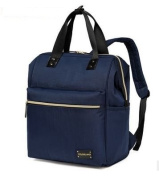 CL Nappy Bag Travel Backpack Shoulder Bag with Baby Changing Pad - Blue