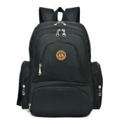 Imyth Unisex Nappy Bag Large Capacity Travel Nappy Backpack Waterproof Baby Bag,Black