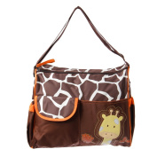 Giraffe Baby Changing Bag Including Changing Mat and Clear Accessory Bag