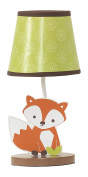 Bedtime Originals Friendly Forest Woodland Lamp with Shade & Bulb, Green/Brown