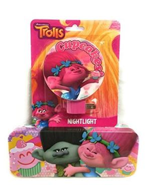 Trolls Assorted Nightlight and Tin Pencil Case Bundle