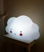 Vivian Cute Cloud Face LED Night Light Portable Baby Children Bedroom Nursery Night Lamp