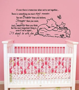 Quote Wall Decal Vinyl Sticker Decals Quotes Winnie the Pooh Quote - Braver Stronger Smarter - Nursery Decor Kids Baby Room Bedroom ZX211 (n)