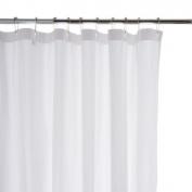 Waterworks Shower Curtain 180cm x 180cm in White-Seersucker