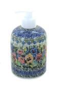 Polish Pottery Carnation Wreath Soap Dispenser