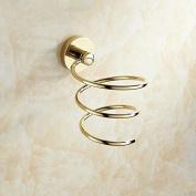 AUSWIND Gold Colour Brass Hair Dryer Holder Polished Wall Mount Bathroom Rack