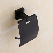 AUSWIND Contemporary Black Oil Finshed Square Base 304 Stainless Steel Polished Toilet Paper Holder Wall Mount Bathroom Accessories mi5