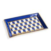 Jonathan Adler Versailles Rectangle Tray - Blue