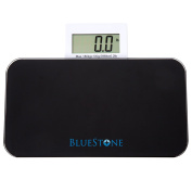 Bluestone Glass Digital Body Scale with Expandable Readout, Black