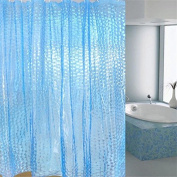 Get Orange 3D Home Bathroom Water Cube PEVA Shower Curtain Chic Clear Thicker Easy to Clean 180cm x 180cm