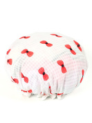 WJL New Fashion Women's Waterproof Double Layer Shower Cap Shower Hat Spa Bathing Caps
