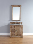 James Martin 238-105-5511-CAR Providence 36 Driftwood Single Vanity with Carrera White Stone Top by James Martin