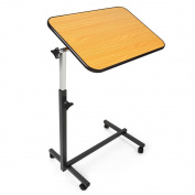 JCMASTER Overbed Table on Wheels, Height Adjustable Over Bed Table for Hospital and Home Use