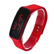 AMA(TM) Men Women Silicone Digital LED Sports Bracelet Wristband Wrist Watch