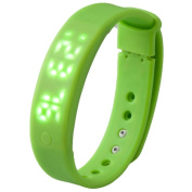 AMA(TM) A6 Sleep Monitoring Bracelet Pedometer Watch Silicone Band Touch Screen Sports LED Smart Watch Bracelet Support Smartphone PC APP