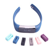 AMA(TM) 12pcs Secure Silicon Fasten Ring for Fitbit Alta Wristband, Protect the Band From Falling Off and Fix the Clasp Loose Problem,never Worry About Losing Your Loved Fitbit Charge