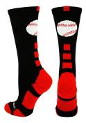 MadSportsStuff Baseball Logo Athletic Crew Socks