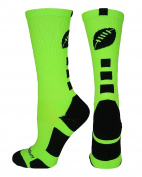 MadSportsStuff Football Logo Athletic Crew Socks