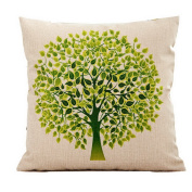 Cotton Linen Decorative Throw Pillow Case Cushion Cover Life Tree Pattern Square 46cm