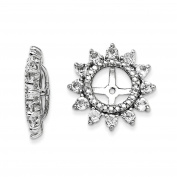 .925 Sterling Silver Genuine Diamond & White Topaz Earring Jackets