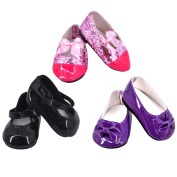 Ebuddy 3pc/Sets Various Style Doll Shoes Accessory For 46cm American Girl Doll