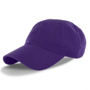 Purple_(US Seller)Cotton Plain Solid Polo Style Baseball Ball Cap Hat