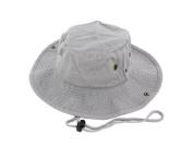 Gray_(US Seller)Unisex Hat Wide Brim Hiking Bucket Safari Cap Outback