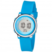 Montic Kids Blue Digital Sports Multi Function Watch Alarm and Stopwatch with Coloured LED Display