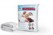 GoodGram Hypoallergenic Waterproof Anti Dust Mites Zippered Mattress Cover with Bed Bug Blocker, Queen