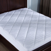 Puredown Mattress Pad/Topper-Box Quilted-500 Thread Count 100% Cotton Top, Full Size, White