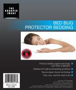 Sharper Image Waterproof, Bed Bug Proof, Dust Mite Proof, Breathable, Zippered Encasement Mattress Protector