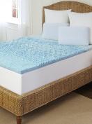 Arctic Sleep by Pure Rest 5 Zone Marbleized Gel Memory Foam Topper - T