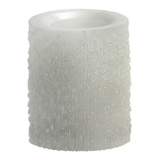 Candle Impressions CAT61304WH00 10cm Iridescent Icicles Flameless Candle, Unscented, White