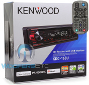 Kenwood KDC-168U In-Dash 1-DIN CD Car Stereo Receiver with Front USB Input