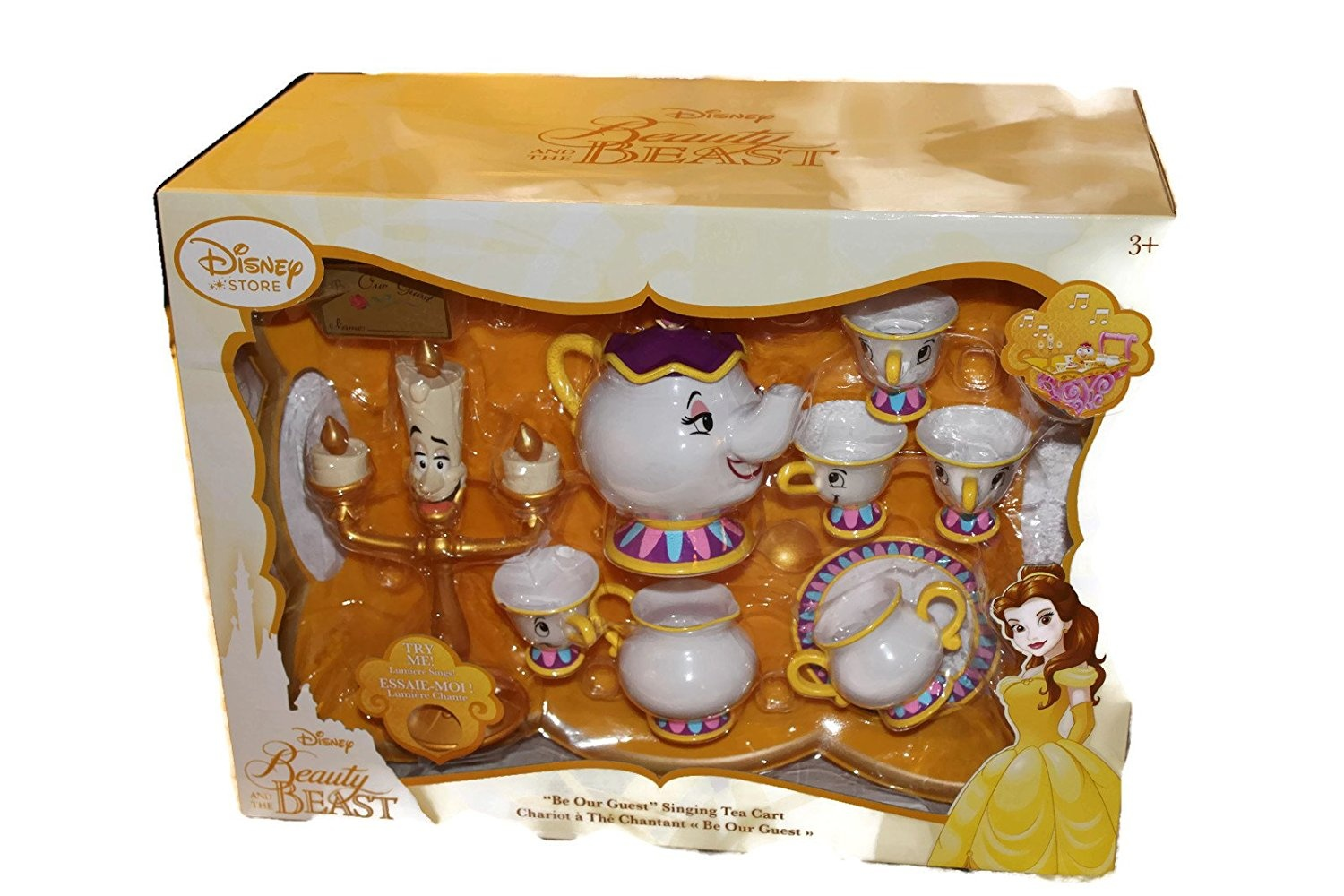 Disney Store Beauty And The Beast Be Our Guest Singing Tea Cart By