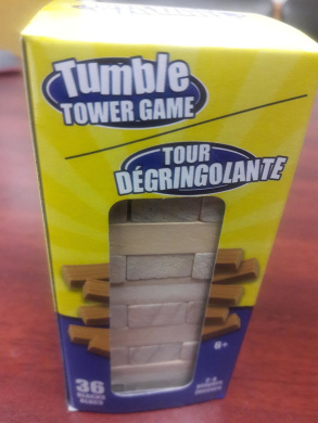 Tumble Tower Game, 36 Blocks, 2-4 players