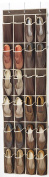 Zober Over the Door Shoe Organiser - 24 Breathable Pockets, Hanging Shoe Holder for Maximising Shoe Storage, Accessories, Toiletries, Laundry Items. 160cm x 46cm