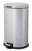 HomeZone 40-Litre Stainless Steel Oval Step Trash Can