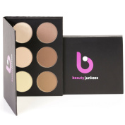 Beauty Junkees Contour and Highlighting Kit – Look Instagram Ready; Powder Makeup Palette Made in the USA, Paraben Free, Cruelty Free
