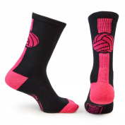 Athletic Half Cushioned Crew Socks | Mid Calf | Volleyball | Multiple Colours