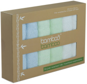 ORGANIC Bamboo premium reusable washcloths Naturally Hypoallergenic Anti-Bacterial and Ultrasoft | 6 pack 25cm x 25cm perfect for Sensitive Skin Ideal Baby Gift