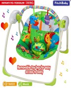 Fitch Baby Cosy Portable Baby Electric Swing Bouncer Infant Musical Rocker UK Official