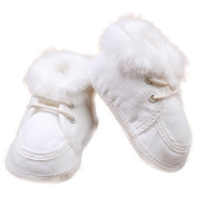 Festive Baby Shoes Winter Shoes Shoes Cream White Cord Size 17 015/60
