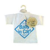 T-Shirt Style Baby On Board Car Sign Blue