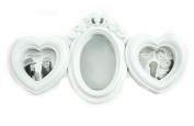 White Shabby Chic Wall Mounted Heart Mirror Oval Kids Baby Nursery Photo Frame Birthday