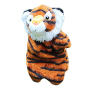 Demiawaking Tiger Shaped Hand Puppet Baby Kids Child Soft Doll Plush Toys Gift